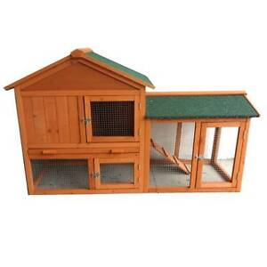 New Rabbit Guinea Pig Hutch Wood Cage Chicken Ferret Coop P051 Keysborough Greater Dandenong Preview
