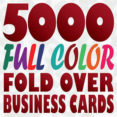 5000 Full Color Custom 14pt FOLD OVER BUSINESS CARD printing with Gloss / Matte
