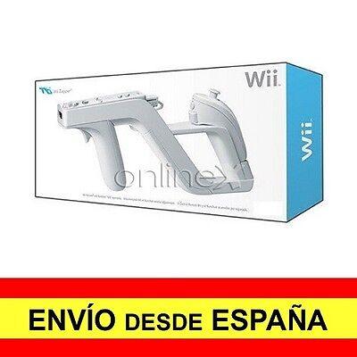 Pistola ZAPPER para Nintendo Wii Remote y Nunchuck BLANCA a0527