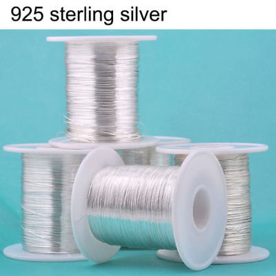 100 cm 925 Sterling Silver Thread String Cord Wire DIY Jewelry Beading Craft