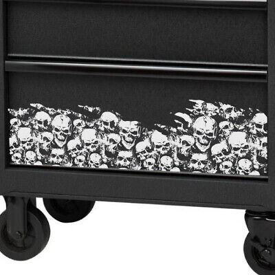- Skulls Overlay Grunge Wrap Graphic Decal Tool Chest Cabinet Drawer Tools Metal