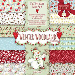 Helz Cuppleditch Winter Woodland Sample 12 x  6x6 Paper Packs