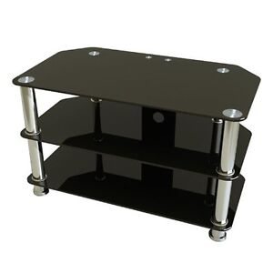 Black Glass Telivision stand.
