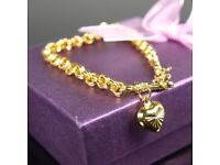 Ladies 9 CT Gold filled Belcher Bracelet. Brand new.