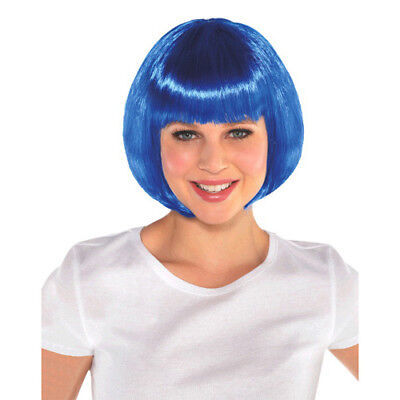 Halloween Birthday Party For Girls (BLUE BOB WIG for ADULTS or KIDS ~ Birthday Halloween Party Supplies Costume)