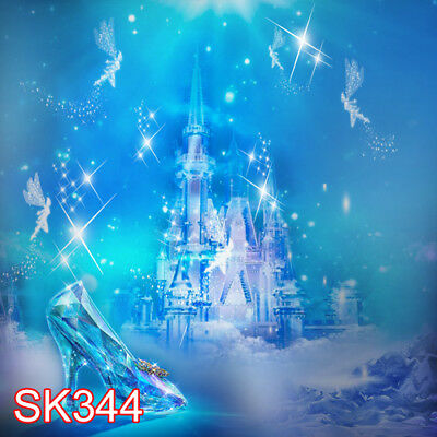 CINDERELLA GLASS SLIPPER CASTLE 8x8 FT CP SCENIC BACKGROUND BACKDROP SK344 (Cinderella Backdrop)