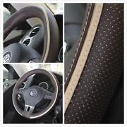 Brown Leather Steering Wheel Cover