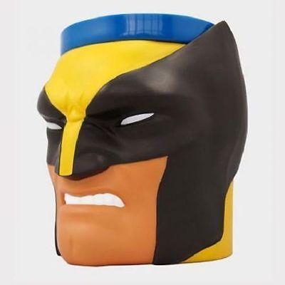 Original Marvel Comics Wolverine Head Plastic Mug Tee Coffee Cup Exclusive NWT