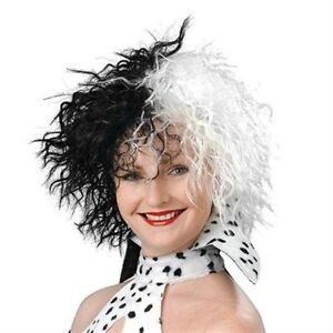 Cruella-De-Ville-101-Dalmatians-Style-Fancy-Dress-Adult-Female-Wig-NEW-P438