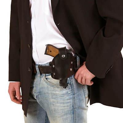 Gürtelholster, schwarz, 1 Tasche - Gürtel - Pistolenhalfter -