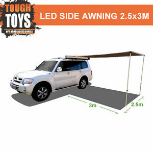 Tough-Side-Awning-2-5mx3m-4wd-Shade-Roof-Rack-Off-Road-4x4-Accessories-Pull-Out