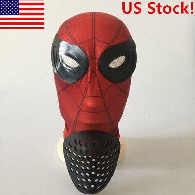 US! Halloween Amazing Spider-man Mask Cosplay Headwear Mask With Faceshell - Halloween Headwear