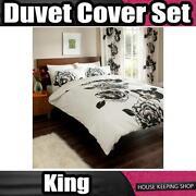 Black Cream King Size Bedding