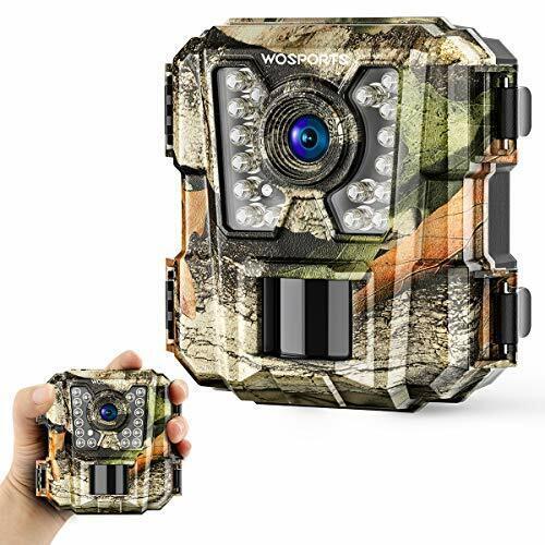 Wosports Mini Trail Camera 1080P HD Wildlife Scouting Hunting Camera with IR Nig
