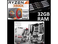 Ryzen 7 3800X + 32GB RAM + Motherboard Bundle