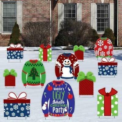 Ugly Christmas Decorations (Custom Ugly Sweater Christmas Party Yard)
