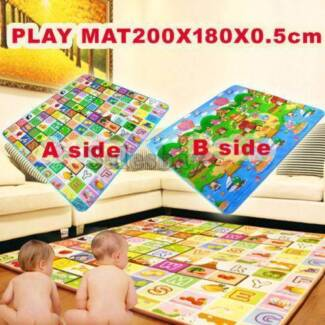 5/10/20mm Thick 2mx1.8m L Baby Kids Play Mat Floor Rug Cushion
