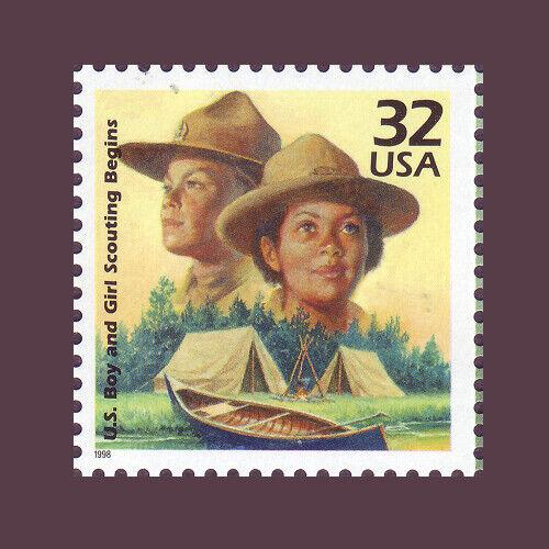 32¢ U.S. Boy & Girl Scouting Begins 3183j 1910