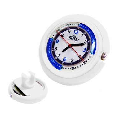 Nurse Clip On Stethoscope Watch- Medical Pulse Quadrant Dual Second Hand White