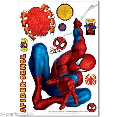 SPIDER MAN MOVEABLE DECORATIONS (10pc) ~ Superhero Birthday Party Supplies Deco - Spider Man Decorations