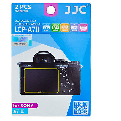 JJC LCP-A7II hard polycarbonate LCD Screen Protector For Sony A7 II A7II A7 2PK