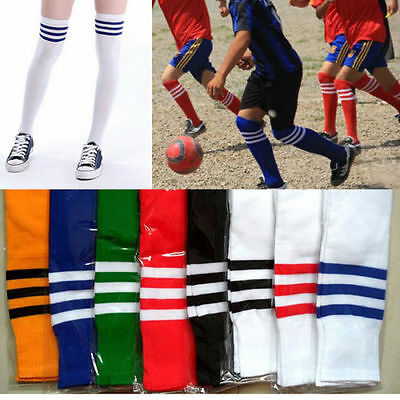 - Fashion Hot Long Stripe Over Knee Football Socks Soccer Sport 35 CM Men Women