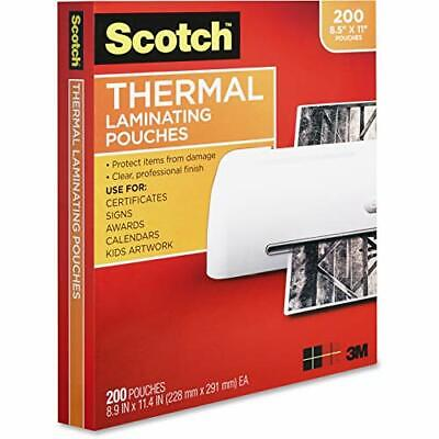 Scotch Thermal Laminating Pouches 200-pack 8.9 X 11.4 Inches Letter Size