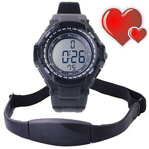 Fitness-Sport-Digital-Watch-Pulse-Heart-Rate-Monitor-Alarm-Time-Chest-Strap-Belt