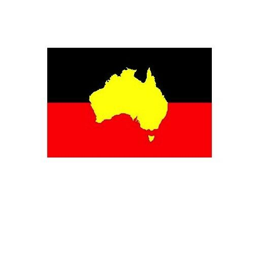 Australia Australian Indigenous Aboriginal Flag 90 by 150cms! (NO STICK/POLE)