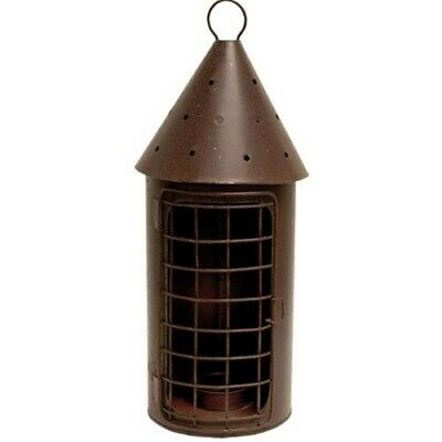 Primitive Country Colonial RUSTY RAILROAD LANTERN Candle Holder Metal Hanging - Lantern Holder