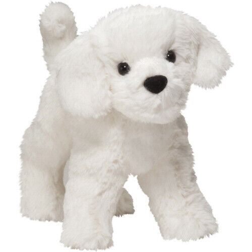New DOUGLAS TOY Stuffed Plush BICHON FRISE WHITE PUPPY DOG Soft Animal Puppy