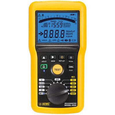 Aemc 6526 2155.53 Digital Megohmmeter Wbargraph Alarm Bluetooth