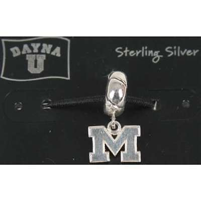 Sterling Silver Michigan Wolverines Charm (Michigan Wolverines Sterling Silver Charm)