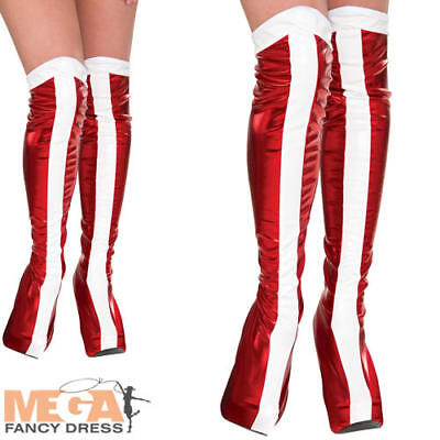 Wonder Woman Boots Tops Fancy Dress Ladies Superhero Womens Costume Accessory
