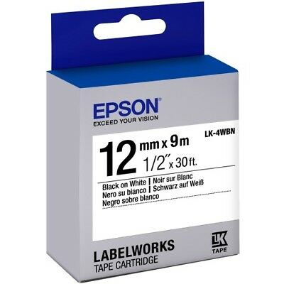 "LabelWorks Standard LK Tape Cartridge ~1/2"" Black on White"