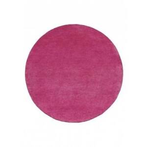 New Pretty In Pink Round Wool Rug