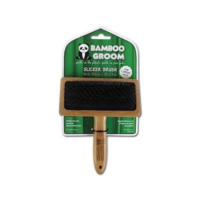 Dog Grooming Slicker Brush Bamboo Groom Small Medium or Large Eco Friendly -