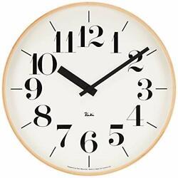 Lemnos RIKI CLOCK L WR-0401 L Wall Clock Japan +Tracking number