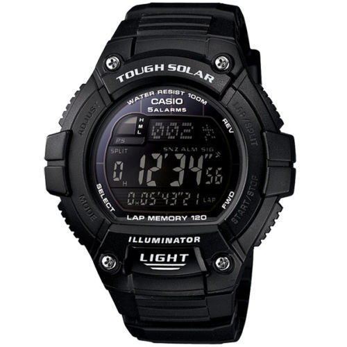 Casio WS220-1BV, Solar Powered Watch, 5 Alarms, World Time