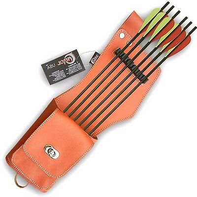 New Mild Green Leather Side Hip Quiver Archery Products AQ-113 MG