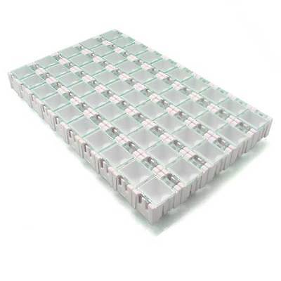 50xsmt Smd Kit Electronic Components Laboratory Storage Screws Boxes W Unbranded