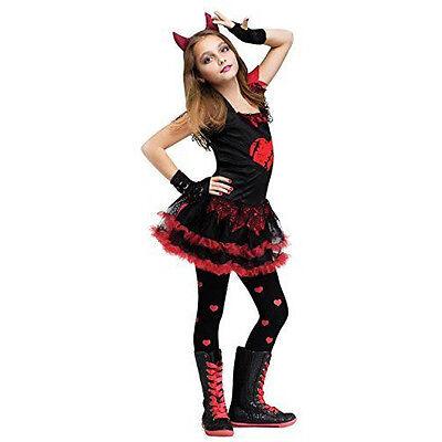 Fun World Devil Diva Girl's Costume Red/Black | FUNWORLD - Devil Diva Costume