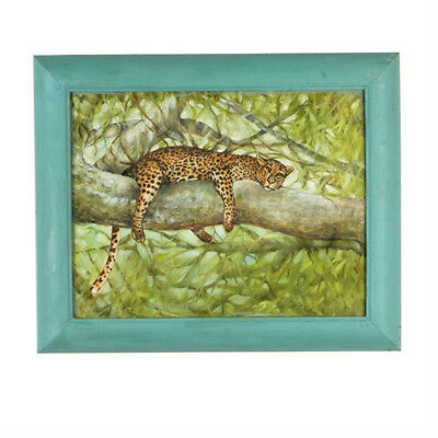Nap Time   Cheetah Resting In Tree  By Anthony Sidoni Oil Painting 14 X17
