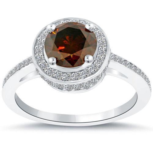 Red Diamond Engagement Ring Ebay
