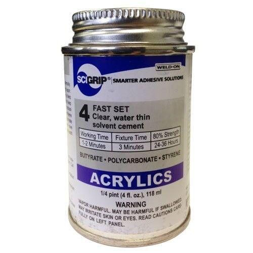 Weld-On 4 Acrylic Adhesive - 4 Oz