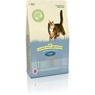 JAMES WELLBELOVED ADULT TURKEY LIGHT COMPLETE DRY CAT FOOD 1.5KG