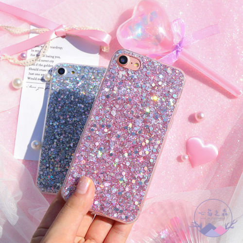 Girly Pink Cute Glitter Kitten Protective Phone Case Cover For Apple iPhone