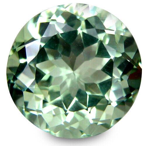 6.63Ct Natural Green Amethyst (prasiolite) Round Shape Loose Gemstone Ref VIDEO