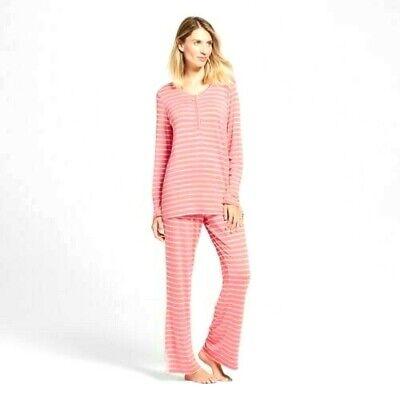 Lamaze Women's Maternity Nursing Long Sleeve Pajamas 2 Piece Set Choose Size