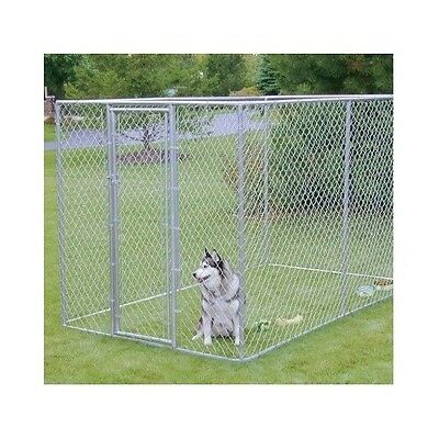 XXL Dog Kennel Chain Link Fence Gate Large Outdoor Pet Enclosure Run House 6x10